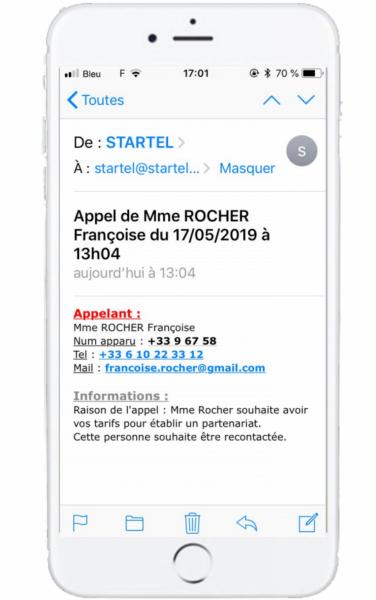 message-mail-sms-personnalisé